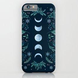 Moonlight Garden - Teal Snow iPhone Case