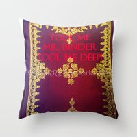 tool Throw Pillows featuring Tool Me by Jrr Bookworks