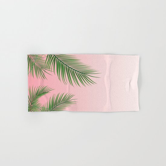 Palm Tree Leaves Hand & Bath Towel