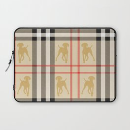 WEIMARANERS AND BEIGE PLAID Laptop Sleeve