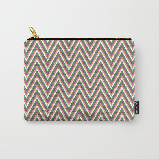 Retro chevron Carry-All Pouch