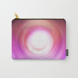 Purple and White Swirl Carry-All Pouch