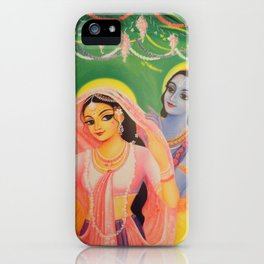 The Divine Couple - Radha and Krishna iPhone Case