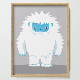 Kids Room Yeti – Illustration for the sleeping room of girls and boys Serving Tray