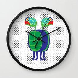 Animal Mardi Gras: Turtle Wall Clock