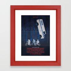 Stranger Things fan art Framed Art Print
