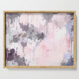 Modern Contemporary soft Pastel Pink Grey Abstract Serving Tray