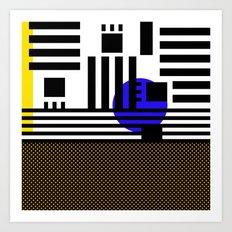 stripes mesh Art Print