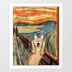 The Meow Art Print