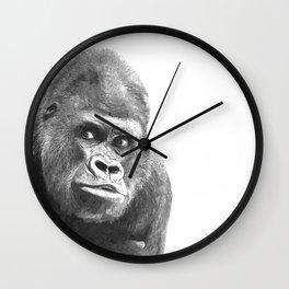 Black and White Gorilla Wall Clock