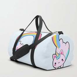 Kawaii proud rainbow cattycorn Duffle Bag