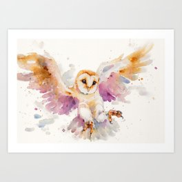 Twilight Owl Art Print