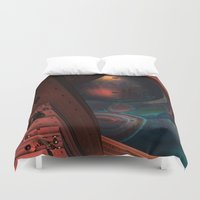 sci fi Duvet Covers featuring Sci-Fi by Lyle Hatch