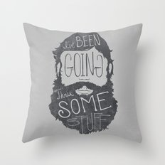 How I think people expect me to explain my beard Throw Pillow