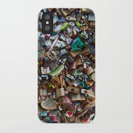 Wall of Love Locks iPhone Case