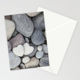 Heart Pebble Stone Mineral Love Symbol Stationery Cards