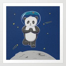 Astro yoga panda Art Print