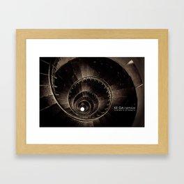 Ke Ga. Spiral staircase inside Lighthouse Framed Art Print