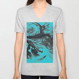 Turquoise Whirlwind Unisex V-Neck
