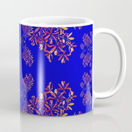 Orchids on Blue Coffee Mug