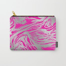 Marbled Fuchsia Carry-All Pouch