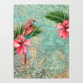 Tropical Map Poster