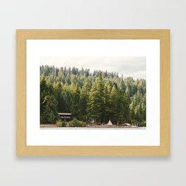 Teeppe on the Lake Framed Art Print
