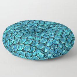 Mermaid Scales Design Floor Pillow
