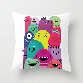 Pile of awesome Throw Pillow