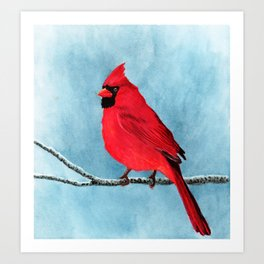 red looks good on me Art Print