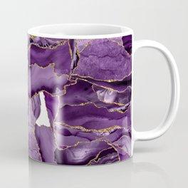 Purple and Gold Agate Coffee Mug