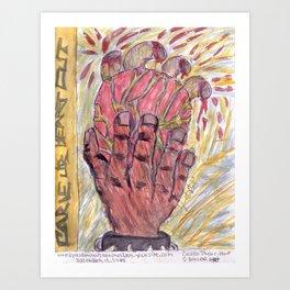 Carve ur heart out Art Print