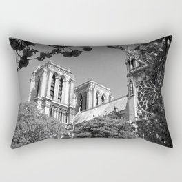 Notre Dame in Spingtime Rectangular Pillow