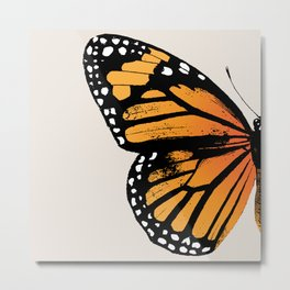 Monarch Butterfly | Left Butterfly Wing | Vintage Butterflies | Metal Print