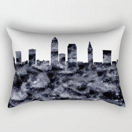 Cleveland Skyline Ohio Rectangular Pillow