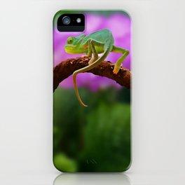 Floral Baby Chameleon iPhone Case
