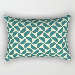 HALF-CIRCLES, TEAL Rectangular Pillow