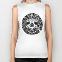 sloth Biker Tanks featuring Sloth by Emma Barker