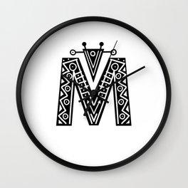 LETTER 'M' IMELA PRINT Wall Clock
