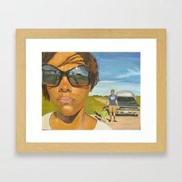Reflection Road Framed Art Print