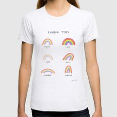 rainbow types Ash Grey Womens Fitted Tee LARGE