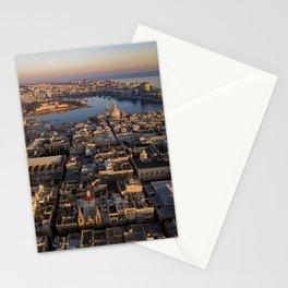 Valletta City Malta | Aerial Photography  Stationery Cards