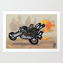 Use Verb on Noun #1: Full Throttle Art Print