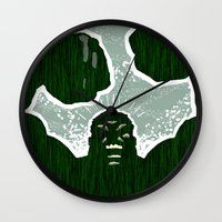 hulk Wall Clocks featuring Hulk by Duke Dastardly
