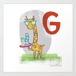 """G"" Art Print"