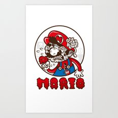 creepy mario Art Print
