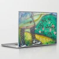 not all who wander Laptop & iPad Skins featuring Wander by Aimée Wheaton Mixed Media Art & Design