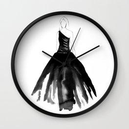 Back to Black Wall Clock
