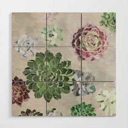 Simple succulents Wood Wall Art