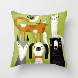 EXTENDED FAMILY PORTRAIT Throw Pillow
